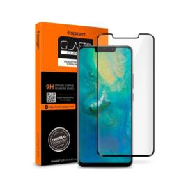 "Spigen ""Glas.tR Curved"" Huawei Mate 20 Pro Tempered Glass hajlított kijelzővédő fólia, fekete"