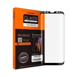 "Spigen ""Glas.tR Curved"" Samsung Galaxy S9 Tempered Glass hajlított kijelzővédő fólia, fekete"