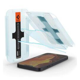 "Spigen ""Glas.tR SLIM EZ Fit"" Apple iPhone 13 mini Tempered kijelzővédő fólia (2db)"