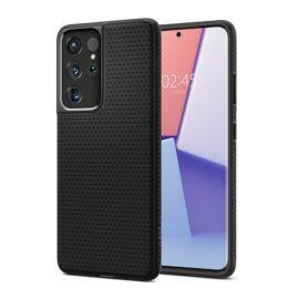 Spigen Liquid Air Samsung G998 Galaxy S21 Ultra tok, fekete