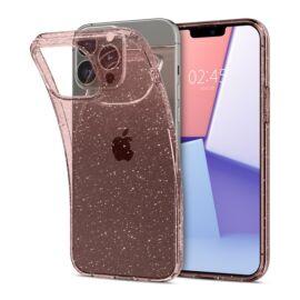 Spigen Liquid Crystal Glitter Apple iPhone 13 Pro Rose Quartz tok, átlátszó