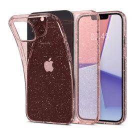 Spigen Liquid Crystal Glitter Apple iPhone 13 mini Rose Quartz tok, átlátszó