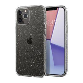 Spigen Liquid Crystal Glitter Apple iPhone 12/12 Pro Crystal Quartz tok, átlátszó