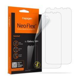 Spigen Neo Flex HD Samsung Galaxy S9+ hajlított kijelzővédő fólia, (2db előlapi)*