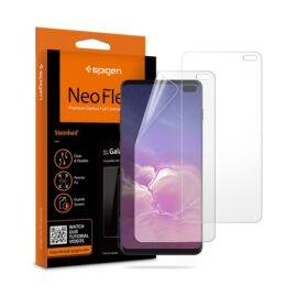 Spigen Neo Flex HD Samsung Galaxy S10+ hajlított kijelzővédő fólia, (2db előlapi)