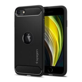 Spigen Rugged Armor Apple iPhone SE(2020) Matte Black tok, fekete