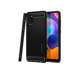 Spigen Rugged Armor Samsung Galaxy A31 Matte Black tok, fekete
