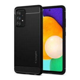 Spigen Rugged Armor Samsung Galaxy A52 5G/A52 Matte Black tok, fekete
