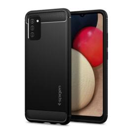 Spigen Rugged Armor Samsung Galaxy M02s/A02s/F02s Matte Black tok, fekete