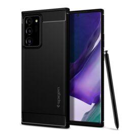 Spigen Rugged Armor Samsung Galaxy Note 20 Ultra Matte Black tok, fekete