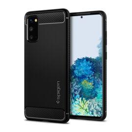 Spigen Rugged Armor Samsung Galaxy S20 Matte Black tok, fekete