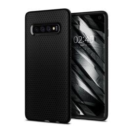 Spigen Liquid Air Samsung Galaxy S10 Matte Black tok, fekete