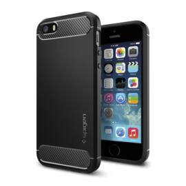 Spigen Rugged Armor Apple iPhone SE/5s/5 Black tok, fekete