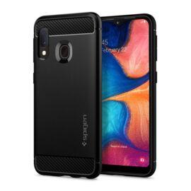 Spigen Rugged Armor Samsung Galaxy A20e Matte Black tok, fekete