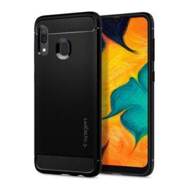 Spigen Rugged Armor Samsung A305 Galaxy A30 Matte Black tok, fekete