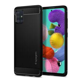 Spigen Rugged Armor Samsung Galaxy A51 Matte Black tok, fekete