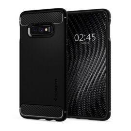 Spigen Rugged Armor Samsung Galaxy S10e Matte Black tok, fekete