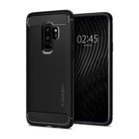Spigen Rugged Armor Samsung Galaxy S9+ Matte Black tok, fekete