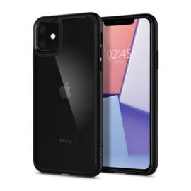 Spigen Ultra Hybrid Apple iPhone 11 Matte Black tok, fekete