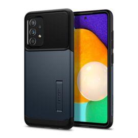 Spigen Slim Armor Samsung Galaxy A52 5G/A52 Metal Slate tok, sötét kék