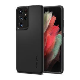 Spigen Thin Fit Samsung G998 Galaxy S21 Ultra Black tok, fekete
