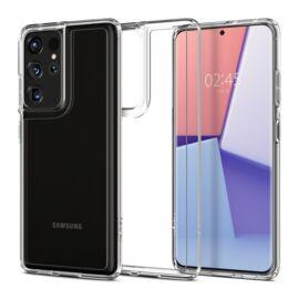 Spigen Ultra Hybrid Samsung G998 Galaxy S21 Ultra Crystal Clear tok, átlátszó