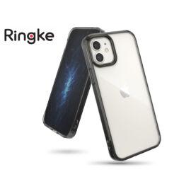 Apple iPhone 12 Mini ütésálló hátlap - Ringke Fusion - smoke black