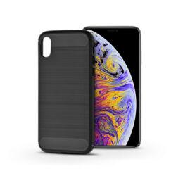 Apple iPhone XS Max szilikon hátlap - Carbon - fekete