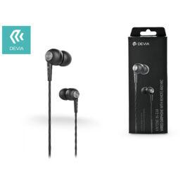Devia univerzális sztereó felvevős fülhallgató - 3,5 mm jack - Devia Kintone In-Ear Wired Earphones - black