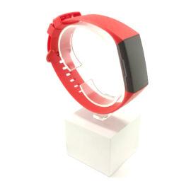 Fitbit Charge 3 / 4 cserélhető szilikon szíj - piros - red (L)