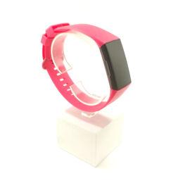 Fitbit Charge 3 / 4 cserélhető szilikon szíj - rózsaszín - pink (L)