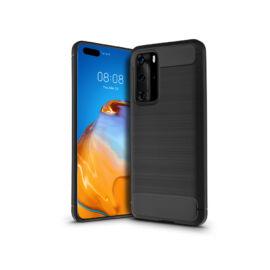 Huawei P40 szilikon hátlap - Carbon - fekete