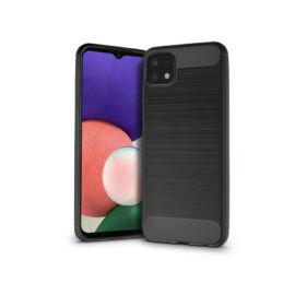 Samsung A226B Galaxy A22 5G szilikon hátlap - Carbon - fekete