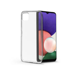 Samsung A226B Galaxy A22 5G szilikon hátlap - Soft Clear - transparent