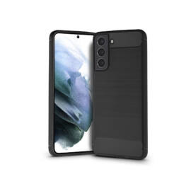 Samsung G990F Galaxy S21 szilikon hátlap - Carbon - fekete