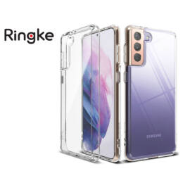 Samsung G996F Galaxy S21+ ütésálló hátlap - Ringke Fusion - clear