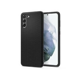 Samsung G996F Galaxy S21+ ütésálló hátlap - Spigen Liquid Air - fekete
