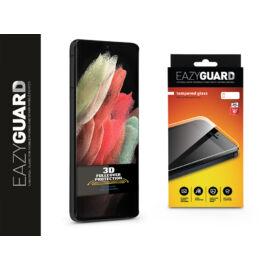 Samsung G998F Galaxy S21 Ultra gyémántüveg képernyővédő fólia - Diamond Glass 3D Fullcover - fekete
