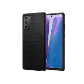 Samsung N980F Galaxy Note 20 ütésálló hátlap - Spigen Liquid Air - fekete