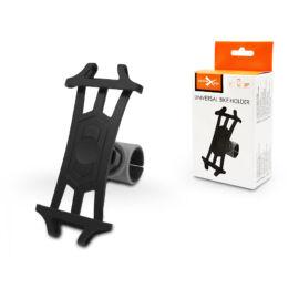 Univerzális kerékpárra szerelhető telefontartó 4,5-6&quot, méretű készülékekhez - Extreme-R5 - fekete/szürke