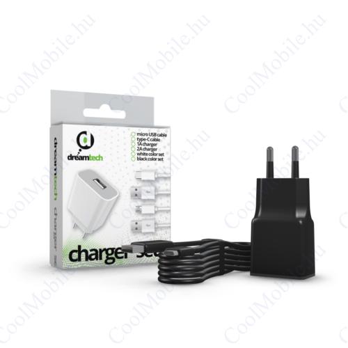 Dreamtech Charger Set 2A Micro Usb Black