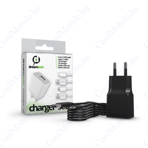 Dreamtech Charger Set 2A Usb C Black