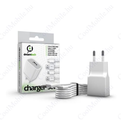 Dreamtech Charger Set 2A Usb C White