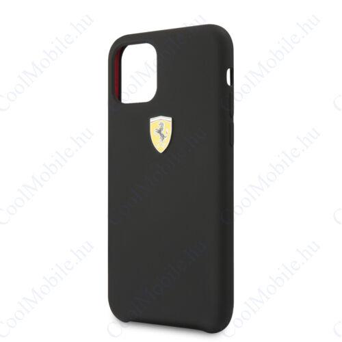 Ferrari tok Fekete (FESSIHCN58BK) Apple Iphone 11 Pro készülékhez
