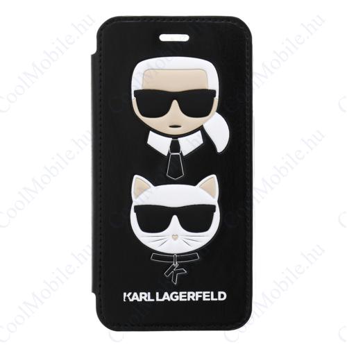 Karl Lagerfeld Flip tok Fekete (KLFLBKI8KICKC) Apple iPhone 7 / 8 / SE (2020) készülékhez