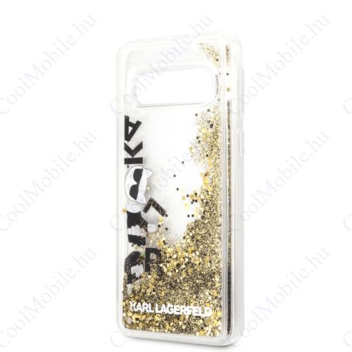 Karl Lagerfeld tok arany (KLHCS10LROGO) Samsung S10e készülékhez