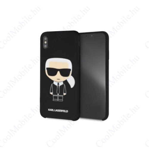 Karl Lagerfeld tok fekete (KLHCI65SLFKBK) Apple Iphone Xs Max készülékhez