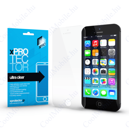 Xprotector Ultra Clear kijelzővédő fólia Apple iPhone 5 / 5S / SE (2016) / 5C készülékhez