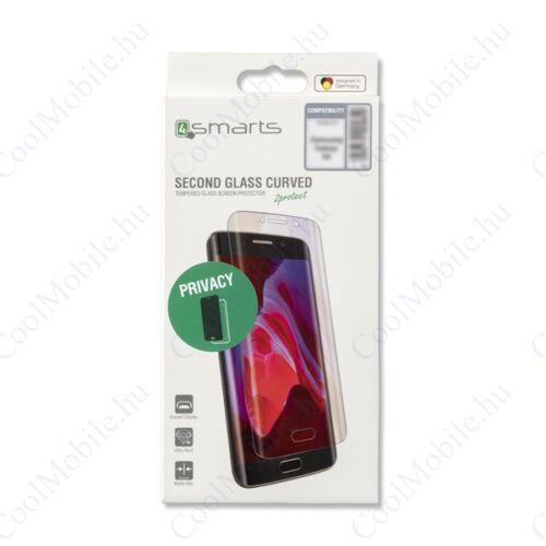 "4smarts Second Glass Curved Colour ""CF"" Samsung G975 Galaxy S10+ teljes kijelzős, tempered kijelző üvegfólia, fekete"