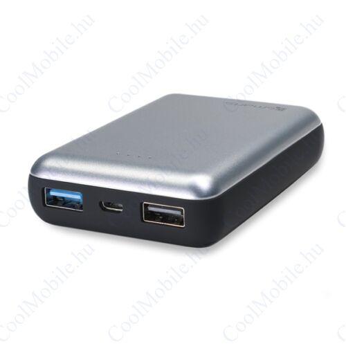 4smarts VoltHub külső akkumulátor (Power Bank) LED állapotjelzővel, 2A, 10W, 10000mAh, fekete (Compact Ferrum)